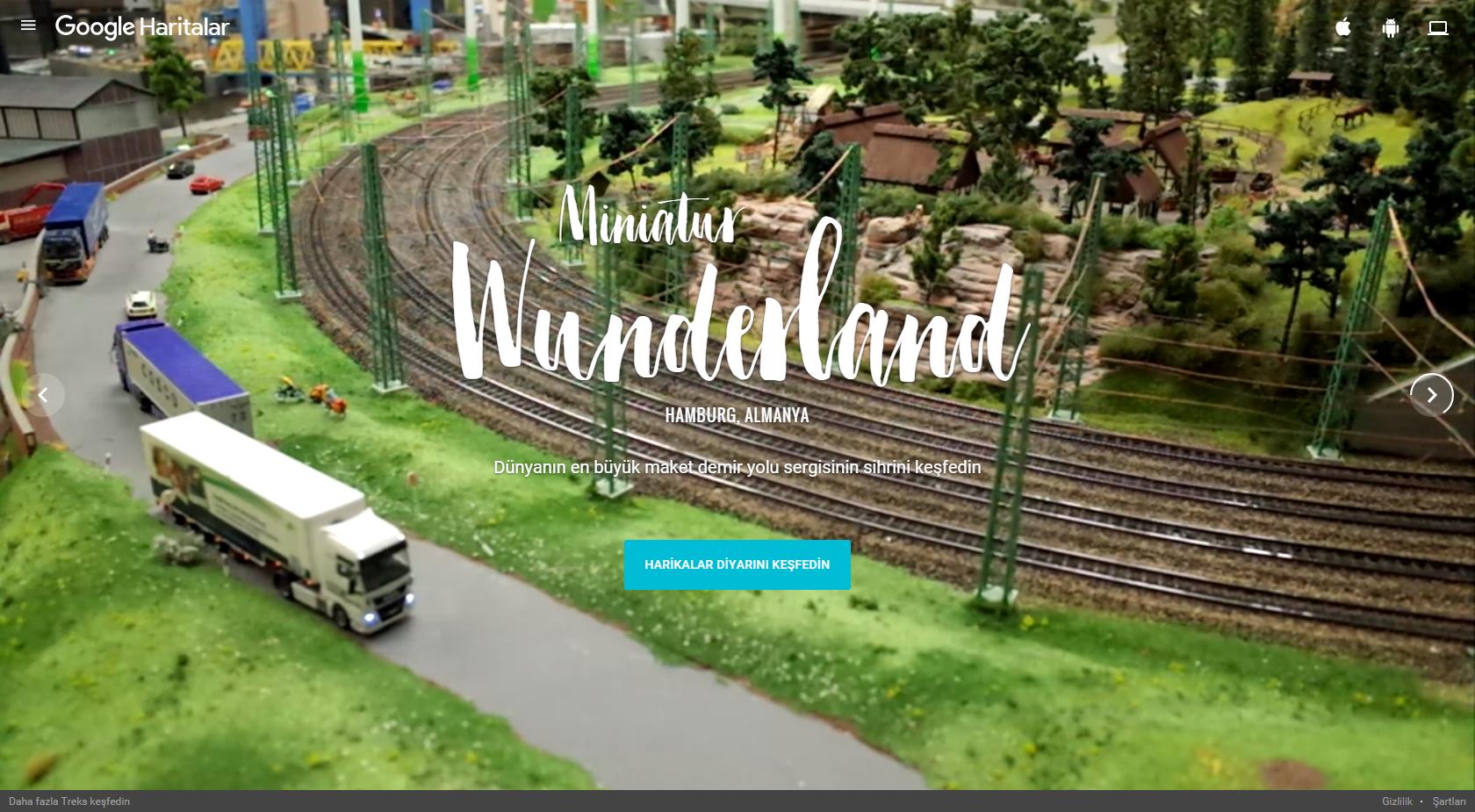 Google Minyatür Dünyalarda Gezdiriyor- Miniatur Wunderland